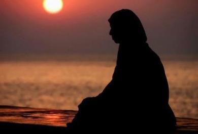 Muslimah at Sunset