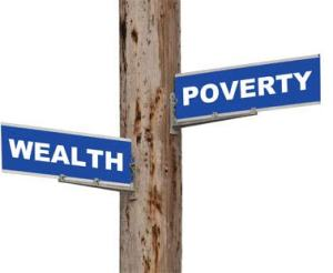 Wealth and poverty is two sides of the same coin - the wealth of everyone is in the sharing not in the keeping