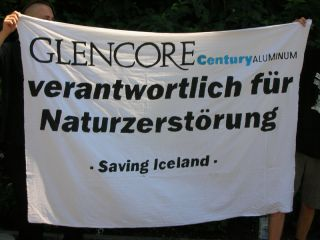 Protest Against Glencores Outside Swiss HQ