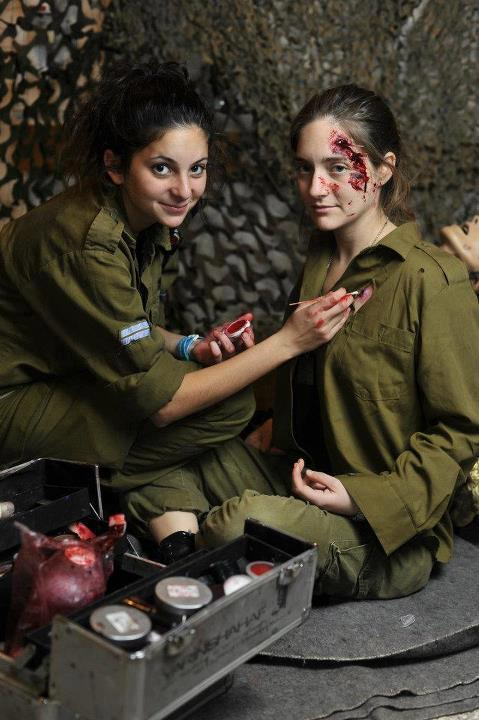 Sicko Israeli Jews create fake wounds using makeup to countermand flagging US support for their evil, antichristian, facial supremacist, apartheid regime